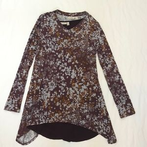 LOGO Lori goldstein Floral 2 piece Tunic Dress